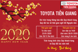 Toyota Tiền Giang – Thông báo nghỉ tết Nguyên đán canh tý 2020