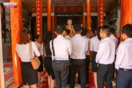 Toyota Tiền Giang viếng thăm chùa Kim Phước nhân dịp đầu năm mới