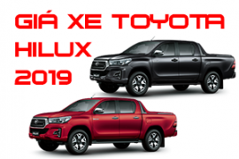 Bảng giá xe Toyota Hilux tại Toyota Tiền Giang cập nhật mới nhất 2019