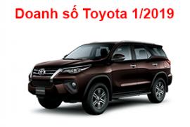 Tháng 1 – 2019, Toyota Việt Nam bán được hơn 1100 xe Toyota Fortuner