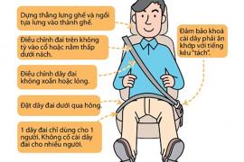 Hướng dẫn cài dây an toàn đúng cách khi ngồi trên ô tô