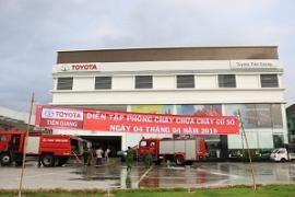 Toyota Tiền Giang diễn tập phòng cháy chữa cháy và cứu nạn cứu hộ ngày 04/04/2019