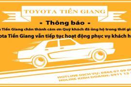 TOYOTA TIỀN GIANG TRÂN TRỌNG THÔNG BÁO