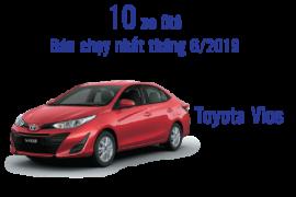Toyota Vios tiếp tục dẫn đầu trong Top 10 xe bán chạy nhất thị trường Ô tô trong tháng 6/2019