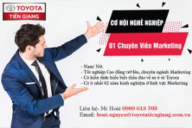 Toyota Tiền Giang thông báo tuyển dụng 01 Chuyên viên Marketing
