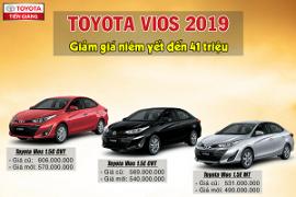 Giá xe Toyota Vios 2019 chỉ từ 490 triệu đồng