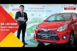Giá lăn bánh xe Toyota Wigo G 4AT (số tự động) tại Toyota Tiền Giang