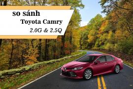 So sánh hai phiên bản Toyota Camry 2019 nhập khẩu