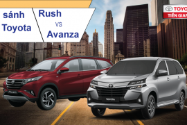 So sánh xe Toyota Avanza AT và Toyota Rush 1.5AT 2019