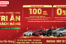 """Toyota Tiền Giang thông báo chương trình """"Tri ân khách hàng"""" tháng 11 và 12"""