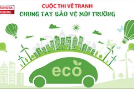 Toyota Tiền Giang thông báo phát động cuộc thi vẽ tranh Chung tay bảo vệ môi trường