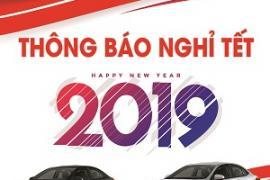 Toyota Tiền Giang thông báo lịch nghỉ Tết Dương Lịch